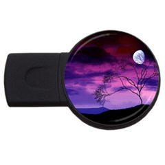 Purple Sky USB Flash Drive Round (1 GB)