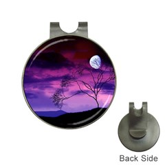 Purple Sky Hat Clips with Golf Markers