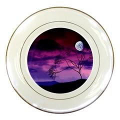 Purple Sky Porcelain Plates
