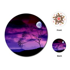 Purple Sky Playing Cards (Round)