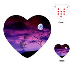 Purple Sky Playing Cards (Heart)