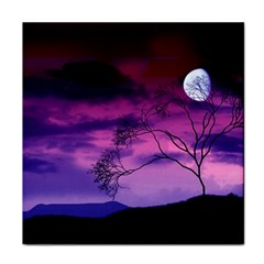 Purple Sky Face Towel