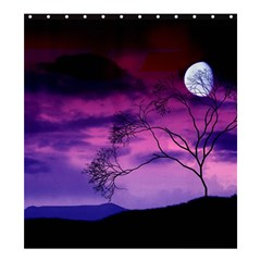 Purple Sky Shower Curtain 66  x 72  (Large)