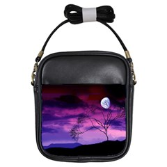 Purple Sky Girls Sling Bags