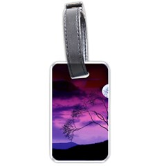 Purple Sky Luggage Tags (One Side)