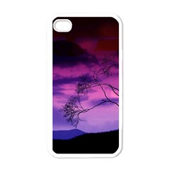 Purple Sky Apple iPhone 4 Case (White)