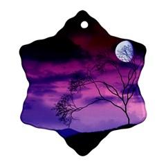 Purple Sky Ornament (Snowflake)