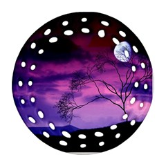 Purple Sky Round Filigree Ornament (2Side)