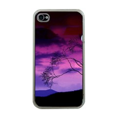 Purple Sky Apple iPhone 4 Case (Clear)