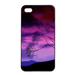 Purple Sky Apple iPhone 4/4s Seamless Case (Black)