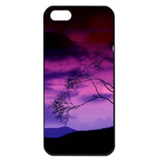 Purple Sky Apple iPhone 5 Seamless Case (Black)