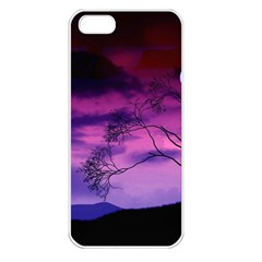 Purple Sky Apple iPhone 5 Seamless Case (White)