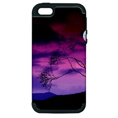 Purple Sky Apple iPhone 5 Hardshell Case (PC+Silicone)