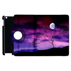 Purple Sky Apple iPad 3/4 Flip 360 Case