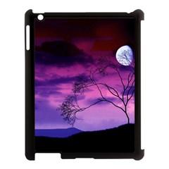 Purple Sky Apple iPad 3/4 Case (Black)