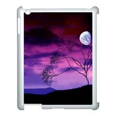 Purple Sky Apple iPad 3/4 Case (White)