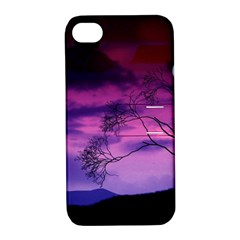 Purple Sky Apple iPhone 4/4S Hardshell Case with Stand