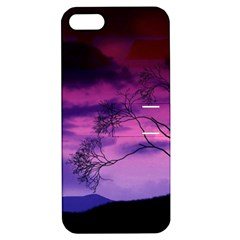 Purple Sky Apple iPhone 5 Hardshell Case with Stand