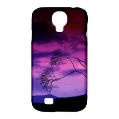 Purple Sky Samsung Galaxy S4 Classic Hardshell Case (PC+Silicone)