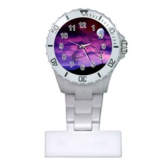 Purple Sky Plastic Nurses Watch