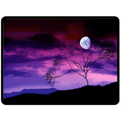 Purple Sky Double Sided Fleece Blanket (Large)