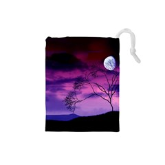 Purple Sky Drawstring Pouches (Small)