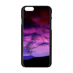 Purple Sky Apple iPhone 6/6S Black Enamel Case