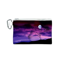 Purple Sky Canvas Cosmetic Bag (S)