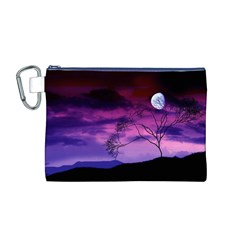 Purple Sky Canvas Cosmetic Bag (M)