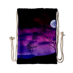 Purple Sky Drawstring Bag (Small)