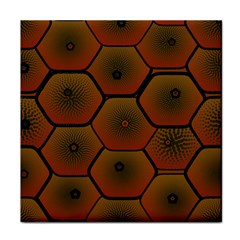 Psychedelic Pattern Tile Coasters