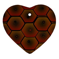 Psychedelic Pattern Ornament (Heart)
