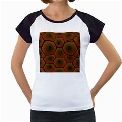Psychedelic Pattern Women s Cap Sleeve T