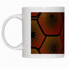 Psychedelic Pattern White Mugs