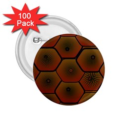 Psychedelic Pattern 2.25  Buttons (100 pack)
