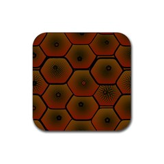 Psychedelic Pattern Rubber Square Coaster (4 pack)