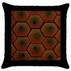 Psychedelic Pattern Throw Pillow Case (Black)