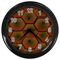 Psychedelic Pattern Wall Clocks (Black)