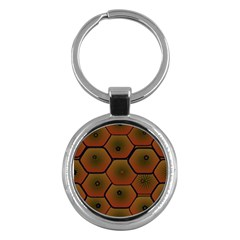 Psychedelic Pattern Key Chains (Round)