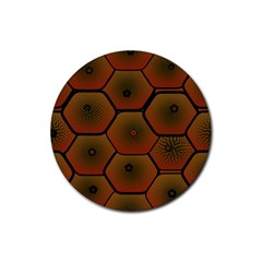 Psychedelic Pattern Rubber Coaster (Round)