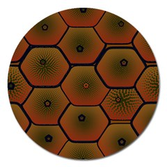 Psychedelic Pattern Magnet 5  (Round)