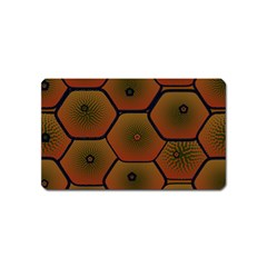 Psychedelic Pattern Magnet (Name Card)