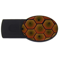 Psychedelic Pattern USB Flash Drive Oval (1 GB)
