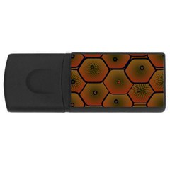 Psychedelic Pattern USB Flash Drive Rectangular (1 GB)
