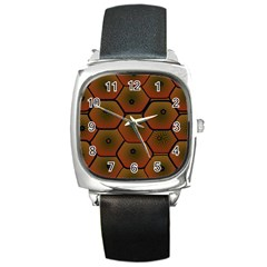 Psychedelic Pattern Square Metal Watch