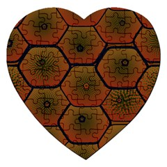 Psychedelic Pattern Jigsaw Puzzle (Heart)