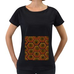 Psychedelic Pattern Women s Loose-Fit T-Shirt (Black)