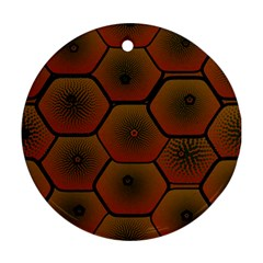 Psychedelic Pattern Round Ornament (Two Sides)