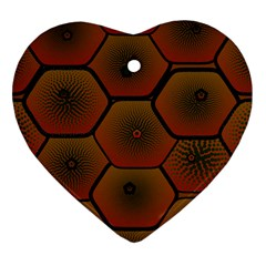 Psychedelic Pattern Heart Ornament (2 Sides)