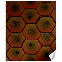 Psychedelic Pattern Canvas 8  x 10